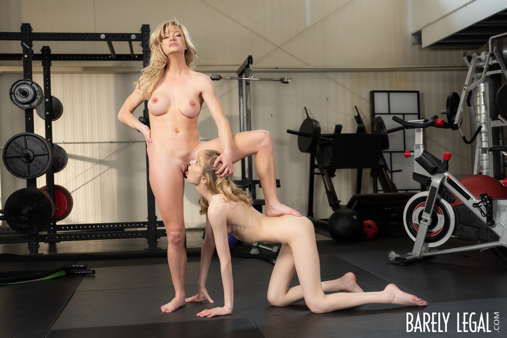 Lesbian MILFs Dominate First Timers